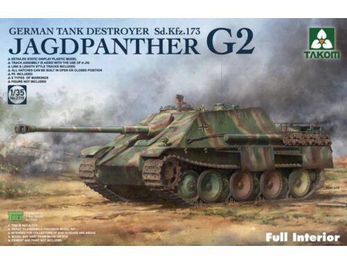 Takom Jagdpanther G2 German Tank Destroyer Sd. Kfz.173 w/full interior kit 1:35 (2118)