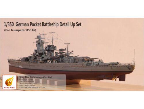 Very Fire German Pocket Battleship Admiral Graf Spee Detail Up Set(f.Trumpeter 05316) 1:350 (VF35000