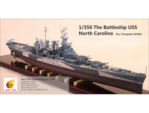 Very Fire The Battleship USS Nort Carolina (for Trumpeter 05303) 1:350 (VF350002)