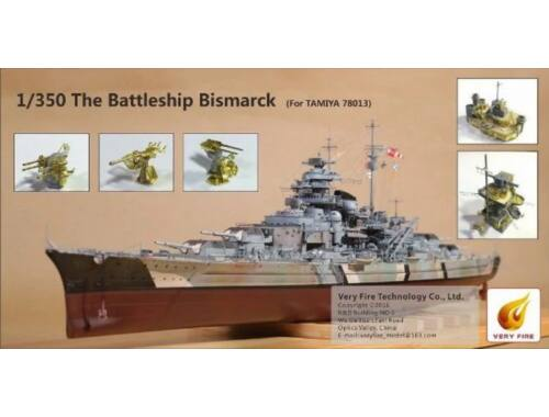 Very Fire The Battle Ship Bismarck (f.Tamiya 78013 1:350 (VF350003)