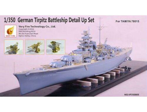 Very Fire German Tripitz Battleship Detail Up Set (for 78015 TA) 1:350 (VF350005)