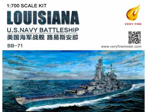 Very Fire Louisiana U.S. Navy Battleship BB-71 1:700 (VF700902)