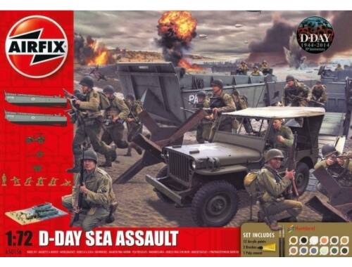 Airfix D-Day 75th Anniversary Sea Assault Gift Set 1:76 (A50156A)