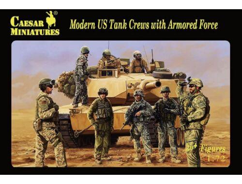 Caesar Modern US Tank Crews with Armored 1:72 (H103)