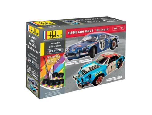 Heller Model Set Alpine A110 1600 S Berlinette 1:24 (85745)