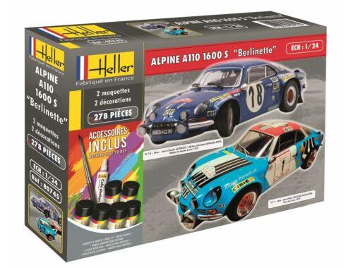 Heller Model Set Alpine A110 1600 S Berlinette 1:24 (85745)