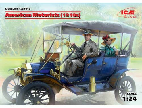 ICM American Motorists (1910s)(1male,1female figures) 1:24 (24013)