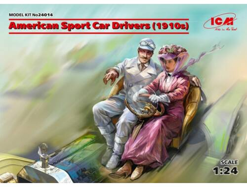 ICM American Sport Car Drivers(1910s)(1 male 1 female figures) 1:24 (24014)