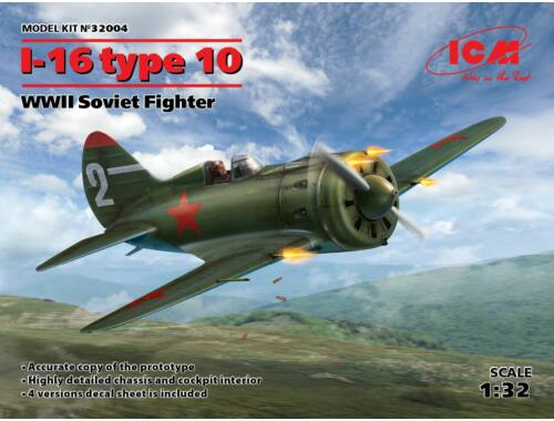 ICM I-16 type 10, WWII Soviet Fighter 1:32 (32004)
