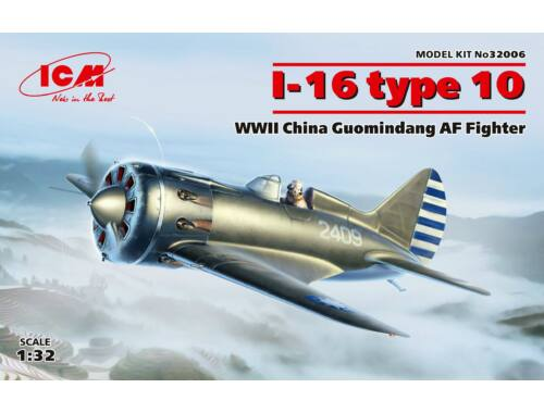 ICM I-16 type 10, WWII China Guomindang AF Fighter 1:32 (32006)