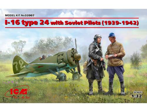 ICM I-16 type 24 with Soviet Pilots(1939-42) Limited 1:32 (32007)
