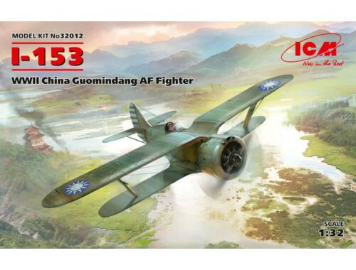 ICM I-153, WWII China Guomindang AF Fighter 1:32 (32012)