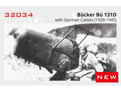 ICM Bücker Bü 131D w.German Cadets(1939-45) Limited 1:32 (32034)