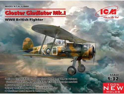 ICM Gloster Gladiator Mk.I,WWII British Figh 1:32 (32040)