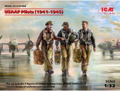 ICM USAAF Pilots (1941-1945) (3 figures) 1:32 (32104)