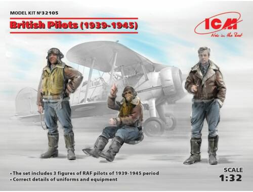 ICM British Pilots (1939-1945)(3 figures) 1:32 (32105)