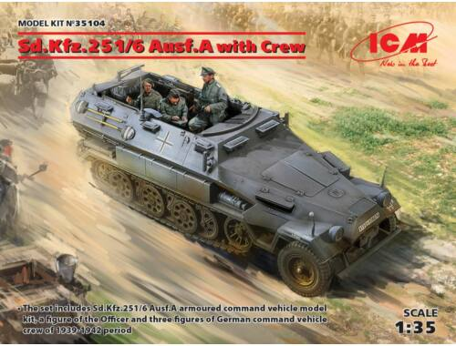 ICM Sd.Kfz.251/6 Ausf.A with Crew, Limited 1:35 (35104)
