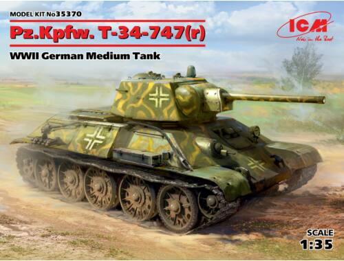 ICM Pz.Kpfw.T-34-747(r)WWII German Medium Tank 1:35 (35370)