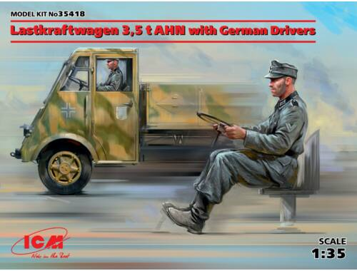 ICM Lastkraftwagen 3,5t AHN w.German Drivers Limited 1:35 (35418)