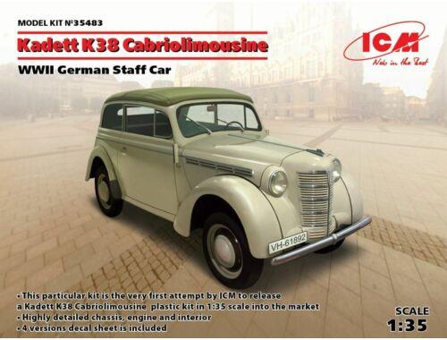 ICM Kadett K38 Cabriolimousine,WWII German Staff Car 1:35 (35483)