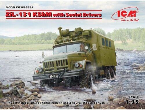 ICM ZiL-131 KShM w.Soviet Drivers, Limited 1:35 (35524)