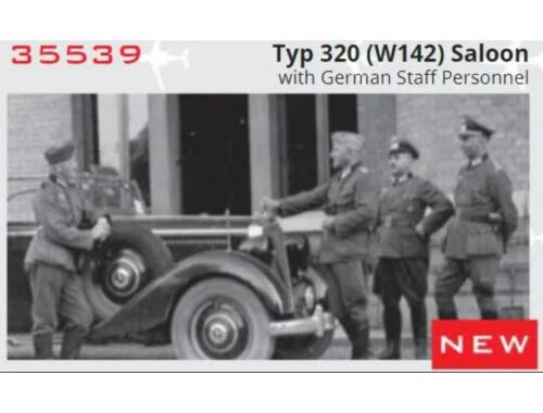 ICM Typ 320 (W142) Saloon with German Staff Personnel, Limited 1:35 (35539)