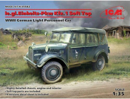 ICM le.gl.Einheitz-Pkw Kfz.1 Soft Top,WWII 1:35 (35582)
