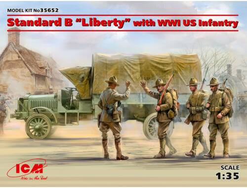 ICM Standard BLiberty with WWI US Infantry Limited 1:35 (35652)