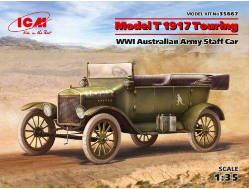 ICM Model T 1917 Touring,WWI Australian Army Staff Car 1:35 (35667)