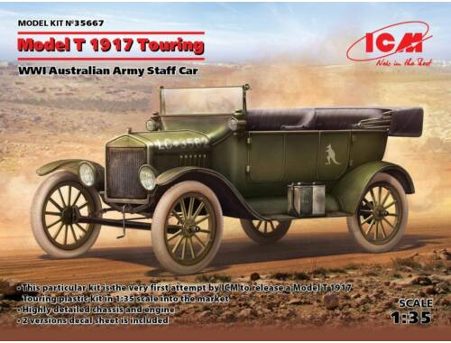 ICM Model T 1917 Touring,WWI Australian Army Staff Car 1:35 (35667)