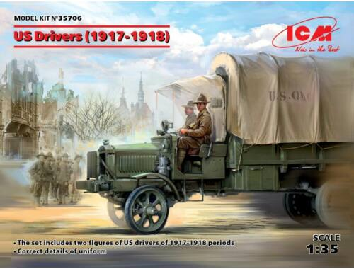 ICM US Drivers(1917-1918)(2 figures) 1:35 (35706)