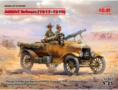 ICM ANZAC Drivers (1917-1918)(2 figures) 1:35 (35707)