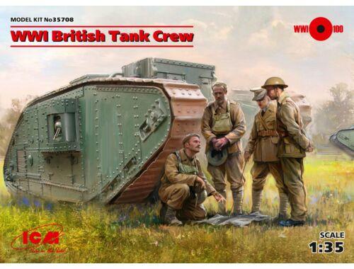 ICM WWI British Tank Crew (4 figures) 1:35 (35708)