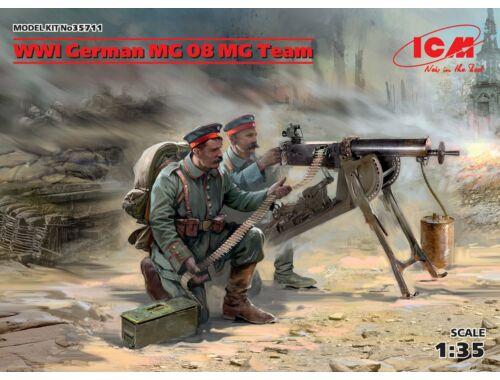 ICM WWI German MG08 MG Team (2 figures) 1:35 (35711)