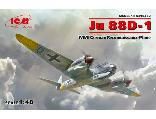 ICM Ju 88D-1,WWII German ReconnaissancePlane 1:48 (48240)