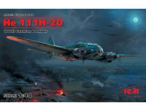 ICM He 111H-20, WWII German Bomber 1:48 (48264)