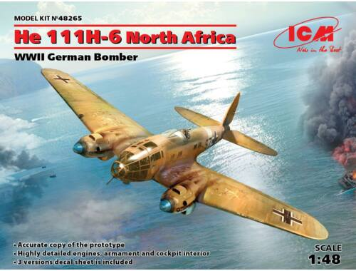 ICM He 111H-6 North Africa,WWII German Bombe Limited 1:48 (48265)