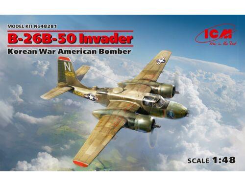 ICM B-26B-50 Invader, Korean War American Bomber 1:48 (48281)