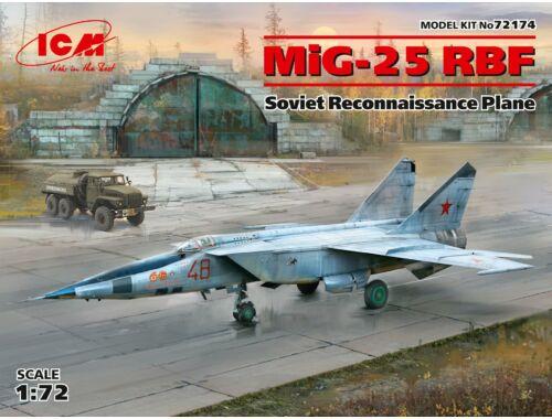 ICM MiG-25 RBF,Soviet Reconnaissance Plane 1:72 (72174)