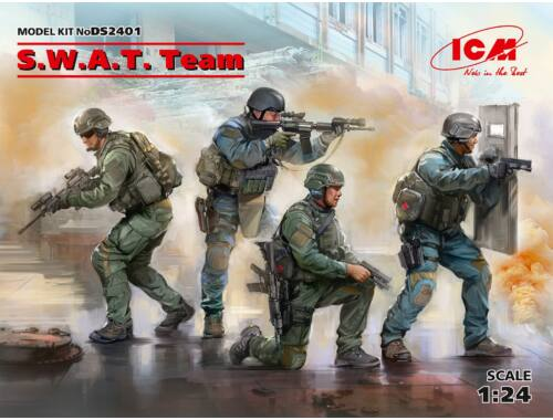 ICM S.W.A.T. Team (4 figures) 1:24 (DS2401)