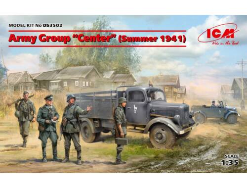 ICM Army GroupCenter(Summer 1941)(Kfz1,Typ L3000S,(4 figures)Ger.Drivers 1:35 (DS3502)