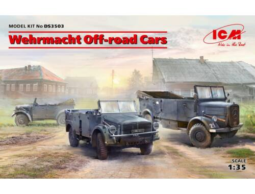 ICM Wehrmacht Off-road Cars (Kfz1,Horch 108 Typ 40, L1500A) 1:35 (DS3503)