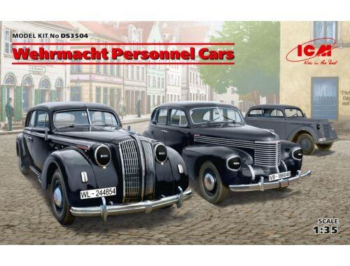 ICM Wehrmacht Personnel Cars(Kadett K38 Salo Kapitan Saloon,Admiral Saloon) 1:35 (DS3504)