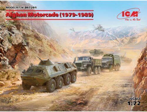 ICM Afghan Motorcade (1979-1989)(URAL-375D, URAL-375A,ATZ-5-375,BTR60PB 1:72 (DS7201)