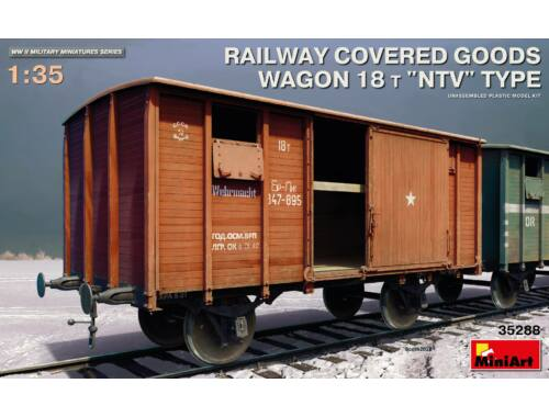 MiniArt Railway Covered Goods Wagon 18 t NTVTy 1:35 (35288)