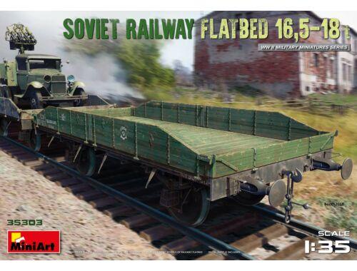 MiniArt Soviet Railway Flatbed 16,5-18 t 1:35 (35303)