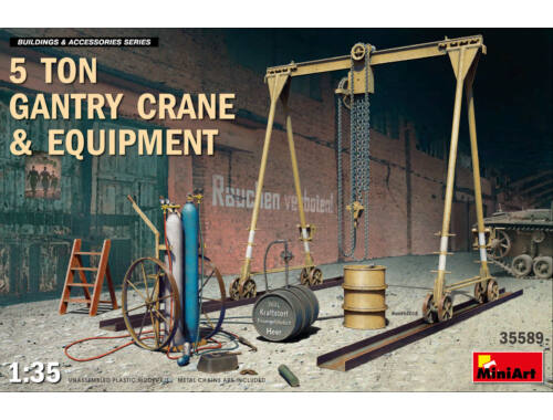 MiniArt 5 Ton Gantry Crane   Equipment 1:35 (35589)