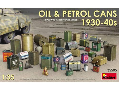 MiniArt Oil Petrol Cans 1930-40s 1:35 (35595)