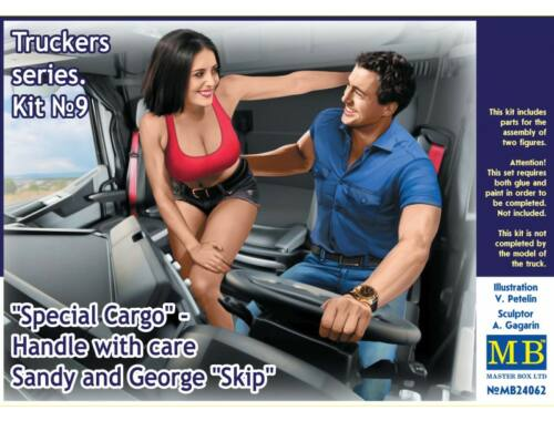 Master Box Truckers seriesSpecial CargoHandle wit care!Sandy and George 1:24 (24062)