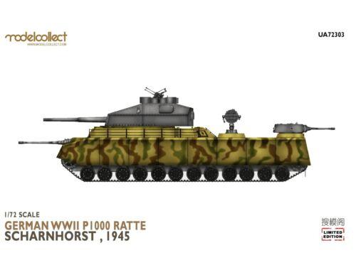 Modelcollect German WWII P.1000 ratte scharnhorst, 1945 1:72 (UA72303)
